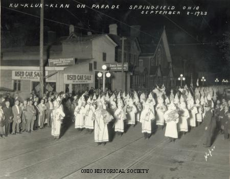 Ku Klux Klan rally circa 1923 in Ohio - not specifically Goose Creek and is strictly representative of the Klans activities.  No photos are available of the Goose Creek #4 Klan at this time.